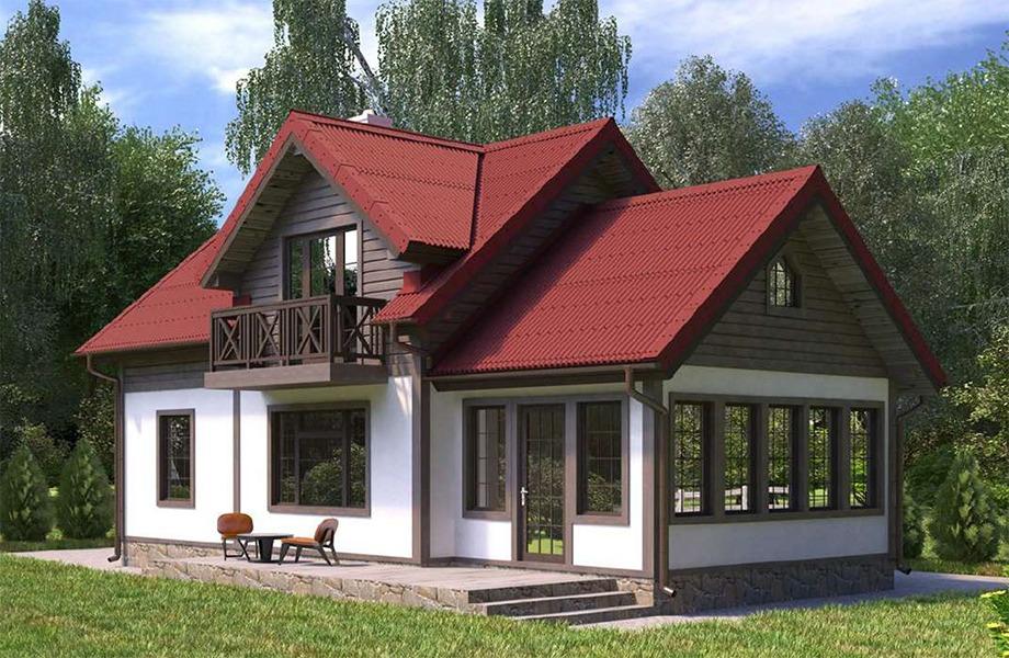Проект каркасного дома К-06