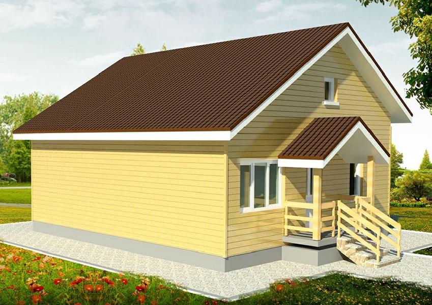 Проект каркасного дома К-08