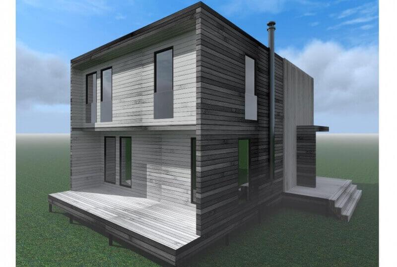 Проект каркасного дома К-13