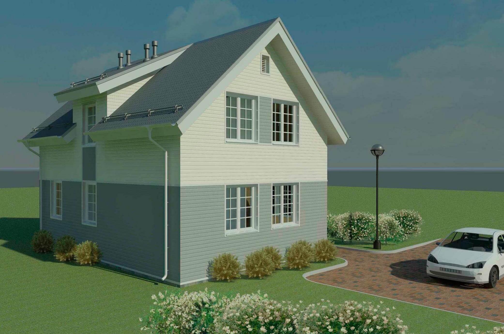 Проект каркасного дома К-09