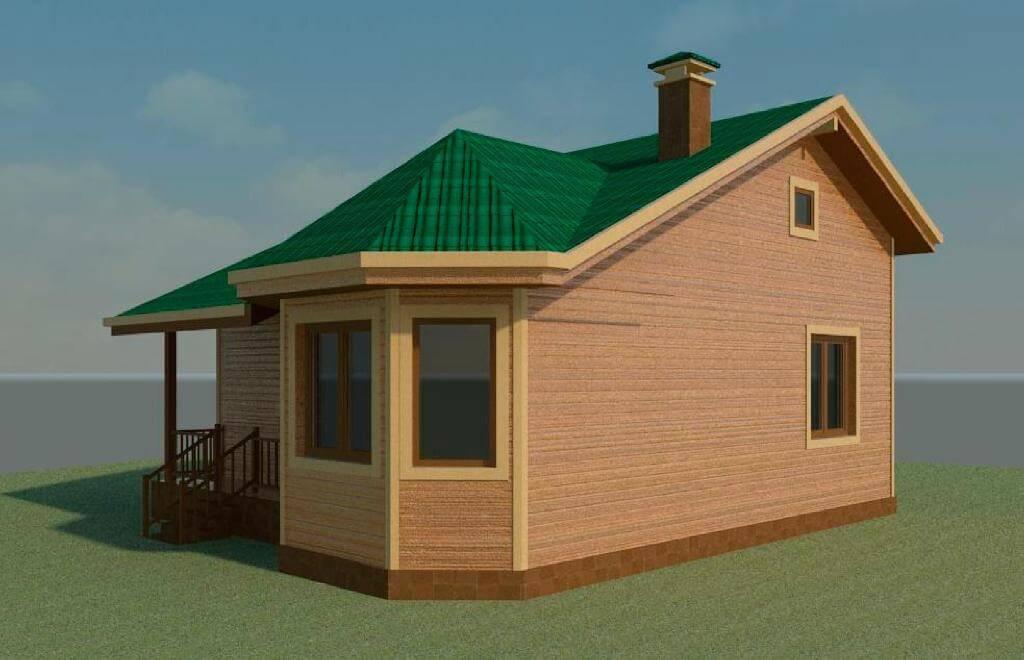 Проект каркасного дома К-11