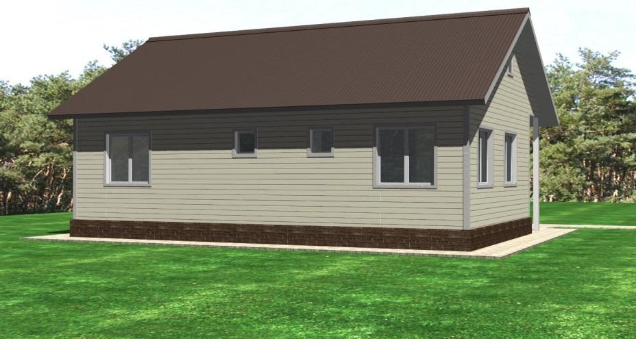 Проект каркасного дома К-04