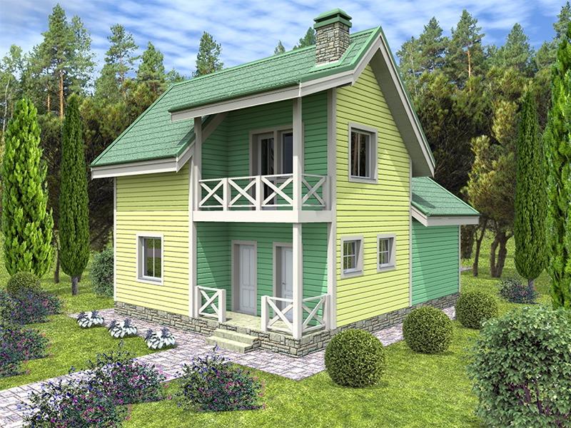 Проект каркасного дома К-02